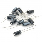 6981 Plastic + Copper Electrolytic Capacitors for DIY Project - Black + White (120-Piece Pack)