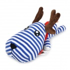 SY001 Seal Soul Red Scarf Deer Christmas Decorative Bamboo Charcoal Propitious Toy - Blue + White