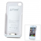 "iFans External ""1800mAh"" Battery PU + ABS Back Case for iPhone 4 / 4S - Yellow"