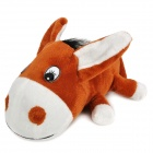 FF070 Deer Decorative Bamboo Charcoal Car Air Freshener Propitious Toy - Brown + White