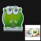 iEasypatch Expecting Mung Bean Frog Style Decorative Silicone + PC Suction Cup - Green + Transparent