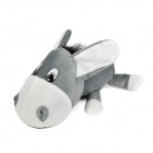 FF070 Cute Deer Decorative Bamboo Charcoal Car Air Freshener - Grey + White