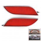 Leaf Style 5.4W 288lm 36-LED 1210 SMD Red Light Car Brake / Safety Alarm Light - Silver + Red