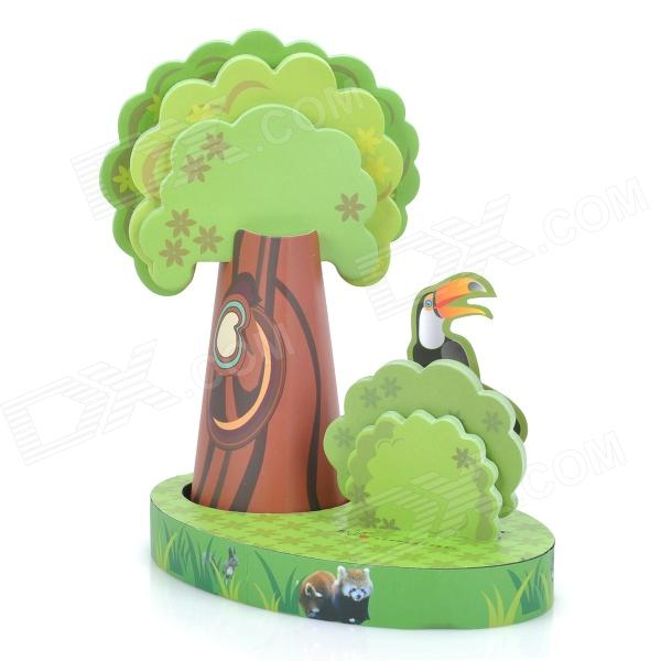 ZhiJiang cjtz Unique Creative Woods Note Pad Memo Block - Green
