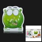 iEasypatch Surprised Mung Bean Frog Style Decorative Silicone + PC Suction Cup - Green