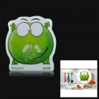 iEasypatch Dumbfounded Mung Bean Frog Style Decorative Silicone + PC Suction Cup - Green