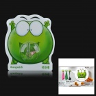 iEasypatch Excited Mung Bean Frog Style Decorative Silicone + PC Suction Cup - Green