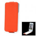 "iFans External ""1800mAh"" Battery PU + ABS Top Flip -Open Case for iPhone 4 / 4S - Orange Red"