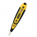 "KAGU KG-2011 Multifunction 8"" LCD AC/DC Voltage Digital Tester w/ Slotted Screwdriver - Yellow"