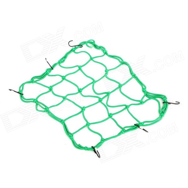 Motorcycle Elastic + Iron Mesh Helmet Cargo Net Luggage - Green