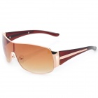Fashion UV Protection Resin Lens Sunglasses Goggles - Rose Gold + Dark Brown