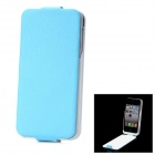iFans External 1450mAh Battery PU + ABS Top Flip -Open Case for iPhone 4 / 4S - Blue
