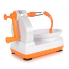Hand-Operated Super Fast Apple Fruit Peeling Peeler Machine - White + Orange