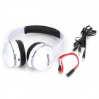 SONUN SN-T2 Stylish Headphone Headset w/ Microphone for PC - White + Black