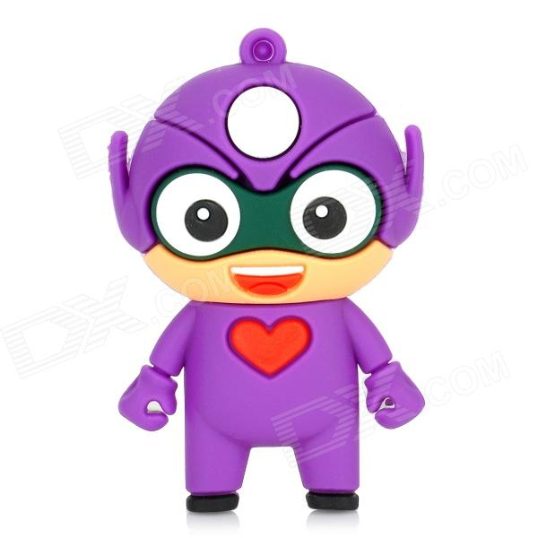 Cartoon USB 2.0 Flash Drive - Purple + White (8GB) usb flash drive