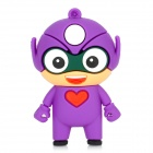 Cartoon USB 2.0 Flash Drive - Purple + White (8GB)