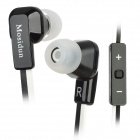 MOSIDUN In-Ear Earphone w/ Volume Control - Black (3.5mm Jack / 100cm Cable)