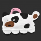 Doomagic Cute Dairy Cattle Multifunction Baby Handbag Pillow - Black + White + Pink