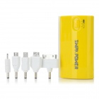 SWPKPOWER SW-B4467 Portable External 5200mAh Emergency Mobile Power Bank w/ Adapters - Yellow