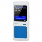 "ONN Q7 Ultra-Slim Sporting 1.8"" Screen MP4 Player w/ FM - Blue + White (4GB)"