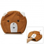 MPK5-Z Cute Cartoon Pattern USB 2.0 Plush Hand Warmer Mouse Pad Mat - Brown + White (120cm-Cable)