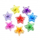 Cute Star Shaped Colorful Scented Candle w/ Shiny Sequins - Multicolored (8 PCS)