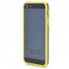 Protective Bumper Frame Case for Iphone 5 - Yellow + Transparent