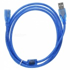 ABS USB 2.0 Male to Female Extension Cable - Blue (160cm)
