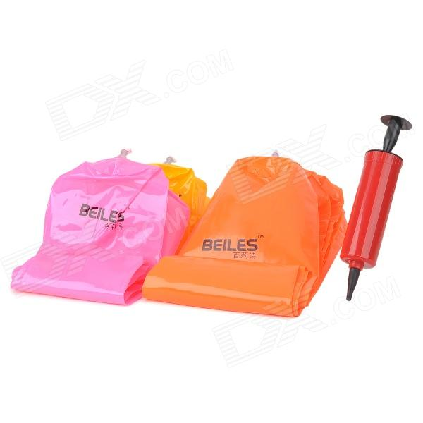 BEILES Creative Inflatable Shoe Boot Support Spreader - Yellow + Red + Orange eykosi women shoe trees boot shoe stand holder with plastic lengthen creative domestic candy color solid
