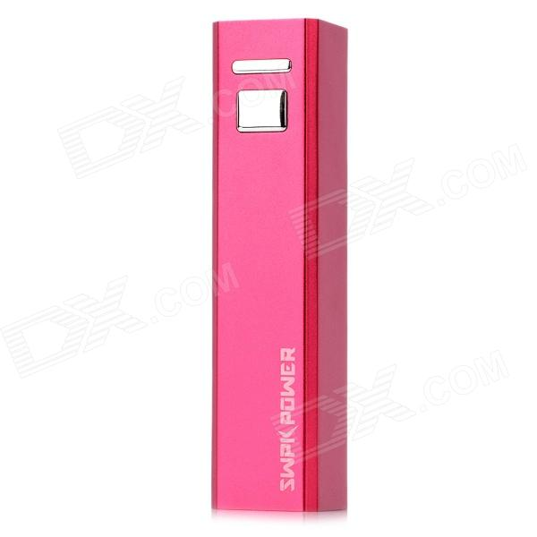 SWPKPOWER SW-A22617 Rechargeable 2600mAh Emergency Mobile Power Charger - Deep Pink