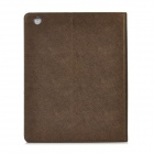 Universal Protective Cloth + Leather Cover for Ipad 2 / the New Ipad - Brown