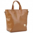 BANI RABBIT 121W03004Q80 Lady's Polka Dot Pattern PU Shoulder / Hand / Aslant Bag - Brown