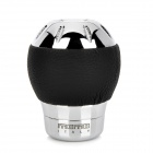 Car Universal Stainless Steel + ABS Shift Gear Knob - Black + Silver