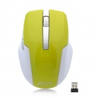 GuoYu GY004 Fashionable Mini 2.4GHz 1000dpi Wireless Optical Mouse - Green + White (1 x AAA)