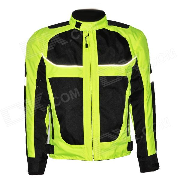 Outdoor Motorcycling Oxford Cloth Reflective Stripe Winter Long Sleeve Jacket (Size XXL)