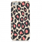 Leopard Grain Pattern Protective Plastic Back Case for iPhone 5 - White + Black + Pink