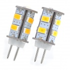 G4 2.2W 183lm 3200K Warmweiß 9-SMD 5630 LED Light Bulb - White (2 PCS)