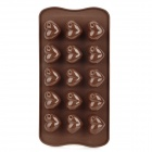 Sweet Heart Shaped 15-Cup Silicone DIY Mold for Cake / Chocolate / Pudding - Coffee