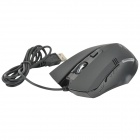 FC-5150 USB 800 / 1600 / 2400 / 3200dpi Wired Optical Gaming Mouse - Black