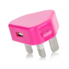 Portable AC Power Adapter Charger for iPhone 3G / 3GS / 4 / 4S - Purple Red (UK Plug)