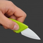Stylish Leaf Shaped Zirconia Ceramic Knife w/ ABC Blade - Green + White