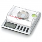 Mini Portable 1.8&quot; LCD Precision Digital Pocket Scale - Black + Silver (30g Max / 0.001g Resolution)
