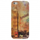 London Big Ben Protective Plastic Back Case w/ Stylus Pen / Earphone Port Dust Plug for Iphone 5