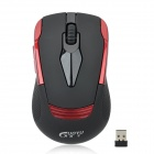 GuoYu G7 Fashion 2.4GHz 1200dpi Wireless Optical Mouse - Black + Red (1 x AAA)