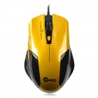Jeway JM-1201 800 / 1200 / 1400 / 1600 DPI USB Wired Game Mouse - Yellow + Black (130cm Cable)