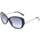 Fashion Lady's Resin Lens UV Protection Sunglasses Goggles - Grey