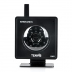 "MINI319w 1/4"" CMOS 300KP Wireless Security Network Camera w/ Wi-Fi / 21-LED IR Night Vision - Black"