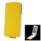 "iFans External ""1800mAh"" Battery PU + ABS Top Flip -Open Case for iPhone 4 / 4S - Yellow"
