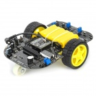 DIY SCM IR Remote Control Intelligent Tracing Robotic Car Module - Black