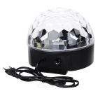 18W 100lm 6-LED RGB con control vocal Música Crystal Light - Blanco + Negro (enchufe de la UE)